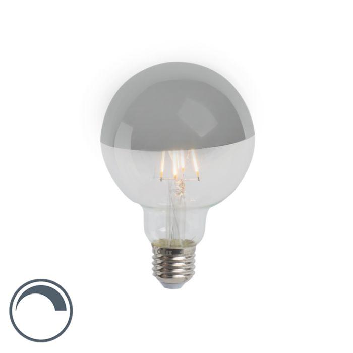 E27-dimbare-LED-filamentlamp-kopspiegel-G95-zilver-280lm-2300K-