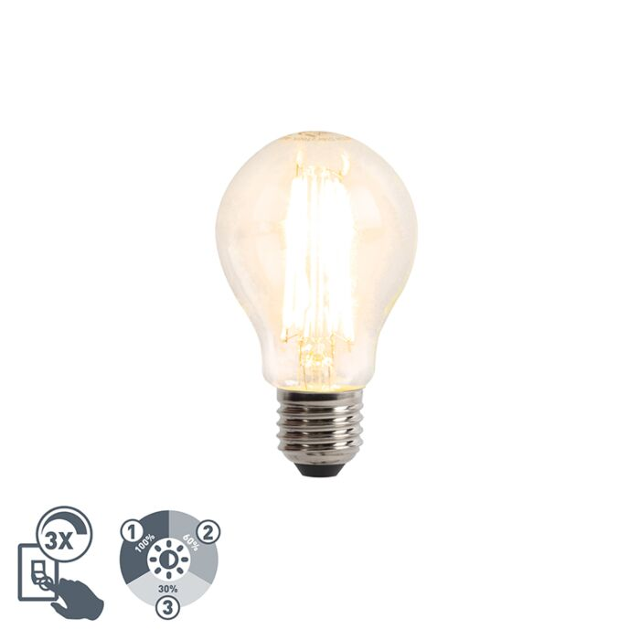 LED-filament-lamp-E27-A60-6W-2700K-helder-dimbaar