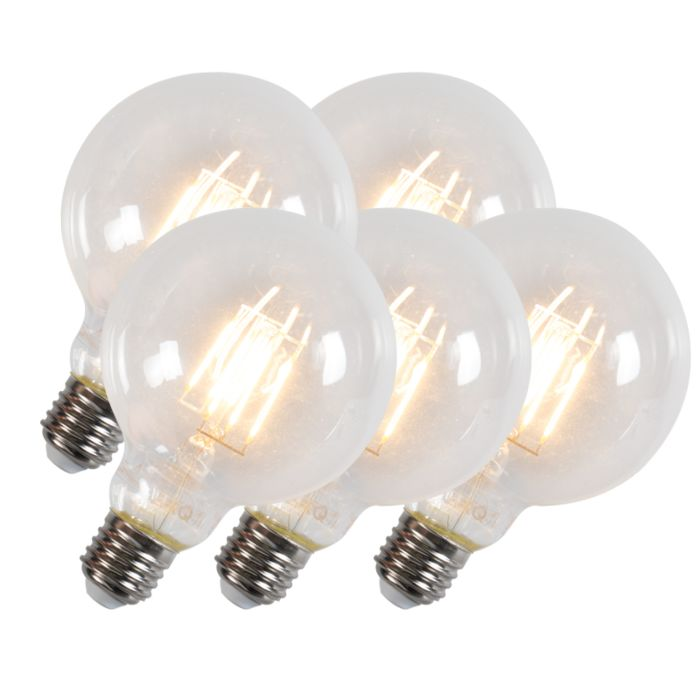 Set-van-5-Led-filament-lamp-G95-E27-6W-600-lumen