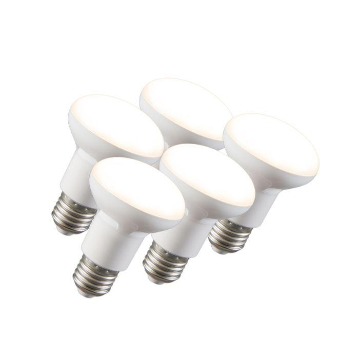 Set-van-5-LED-reflectorlamp-R63-E27-240V-8W-2700K-dimbaar