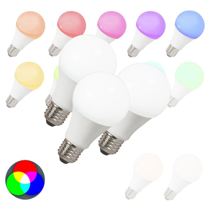 Set-van-3-LED-lamp-E27-240V-7W-500lm-A60-Smart-Light