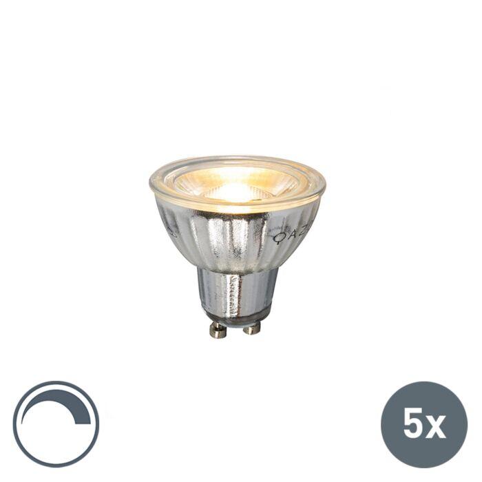 Set-van-5-GU10-dimbare-LED-lamp-7W-500LM-2700K