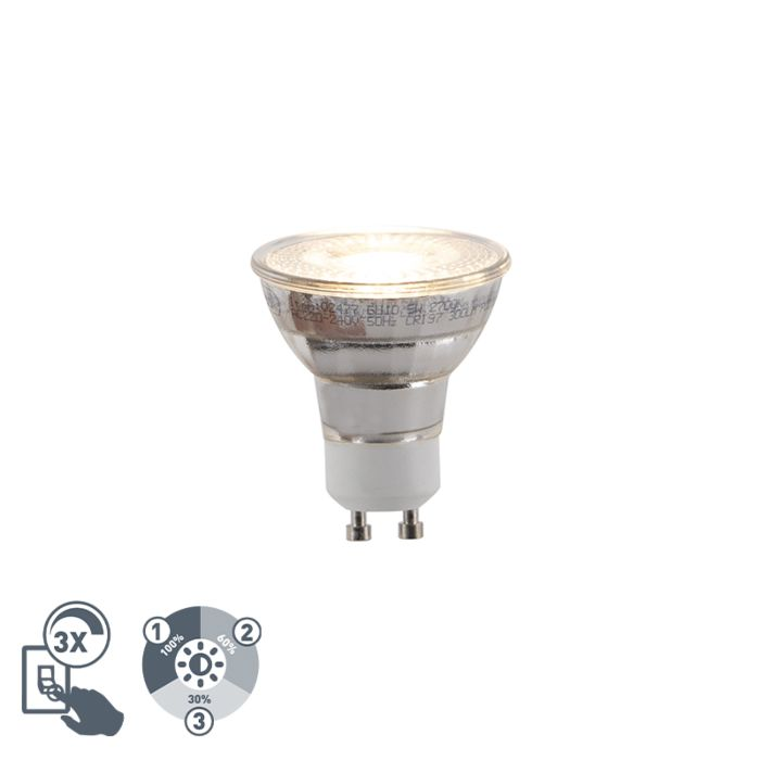 GU10-3-staps-dimbare-LED-lamp-5W-300lm-