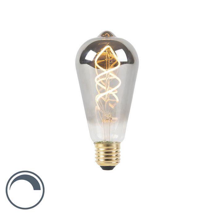 E27-dimbare-LED-gedraaid-filament-lamp-smoke-100-lm-2100K-