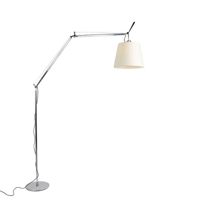 Artemide-vloerlamp-aluminium-met-kap---Artemide-Tolomeo-Mega-Terra