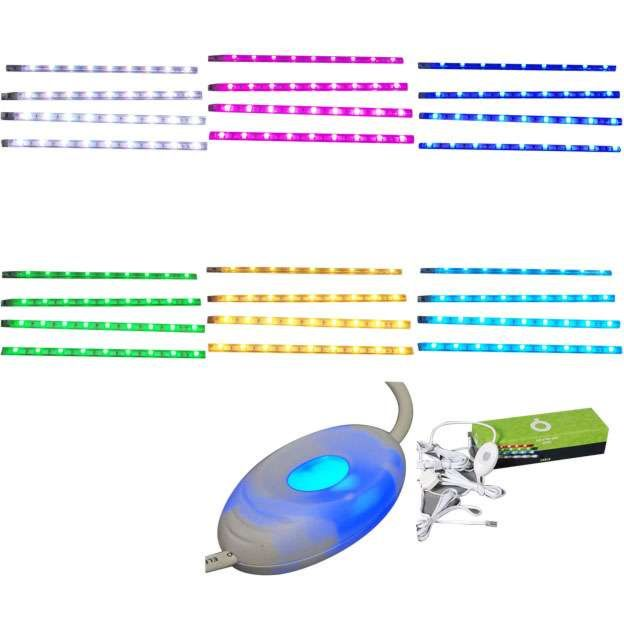 Set-van-vier-LED-strips-RGB