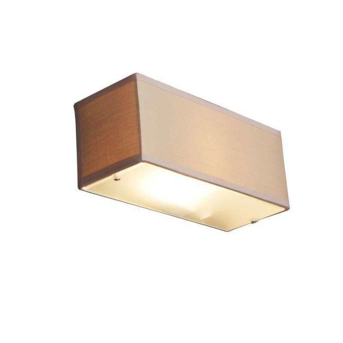 Wandlamp-Drum-rechthoek-beige