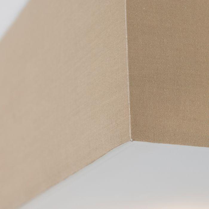 Moderne-vierkante-plafondlamp-beige-35cm---Drum