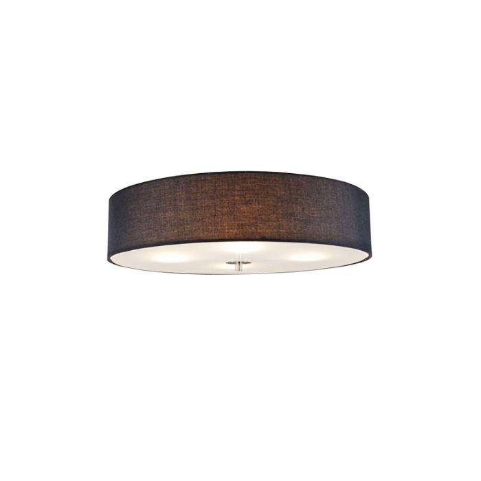 Landelijke-plafondlamp-zwart-50-cm---Drum