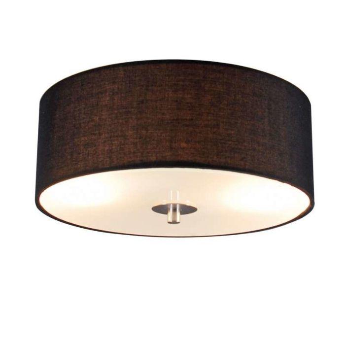 Landelijke-plafondlamp-zwart-30-cm---Drum