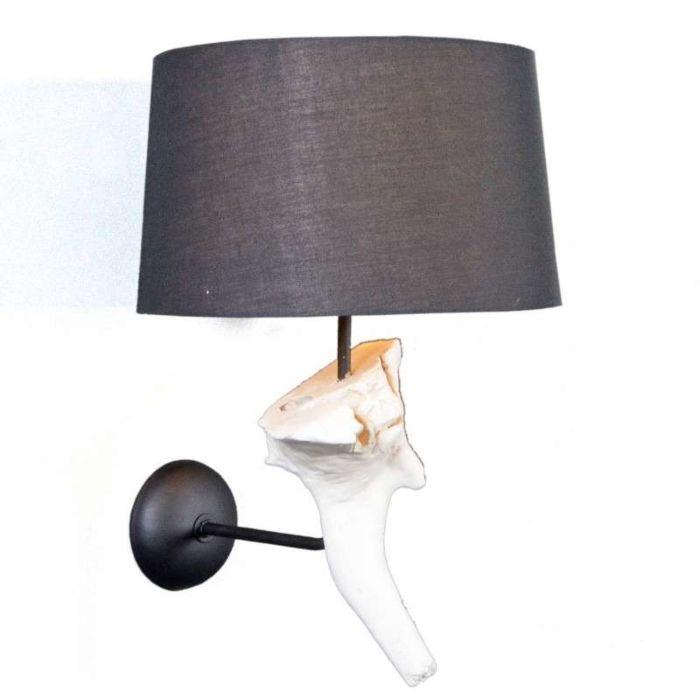 Wandlamp-Suchin-wit-met-zwarte-kap