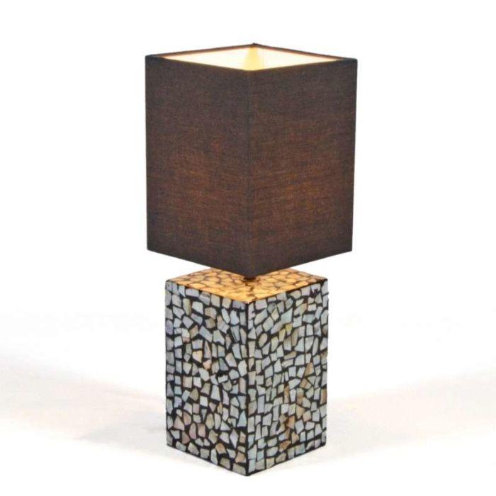Tafellamp-Pearl-met-zwarte-kap