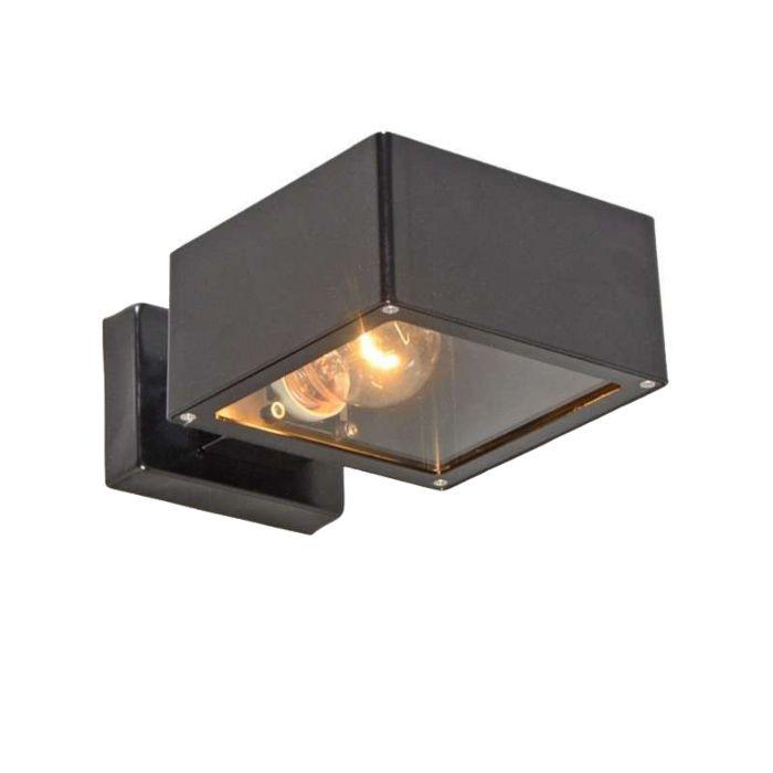 Buitenlamp-wand-Bussum-II-zwart