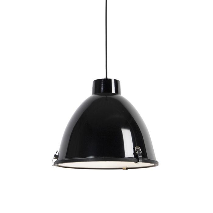 Industriële-hanglamp-zwart-38-cm-dimbaar---Anteros
