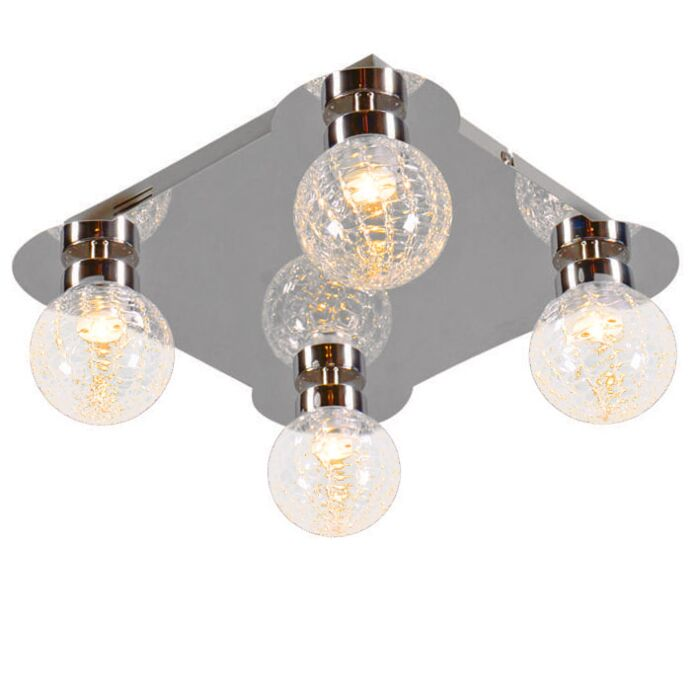 Plafonniere-Ice-4-LED-chroom