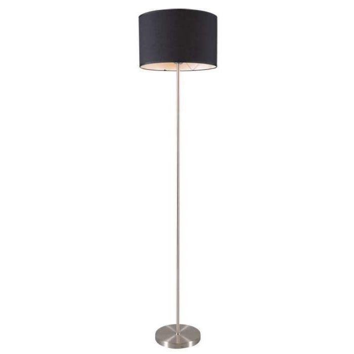 Vloerlamp-Lugar-staal-met-kap-zwart