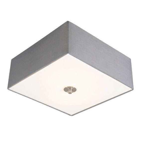 Landelijke-vierkante-plafondlamp-35-cm-grijs---Drum