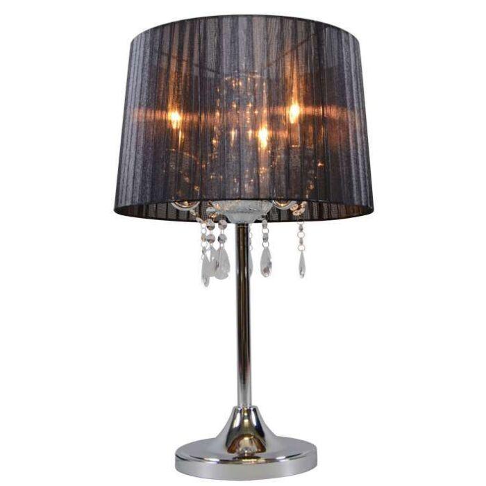 Klassieke-tafellamp-chroom-met-zwarte-kap---Ann-Kathrin-3