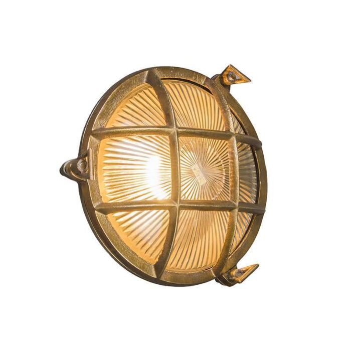Wand/plafondlamp-Nautica-rond-goud