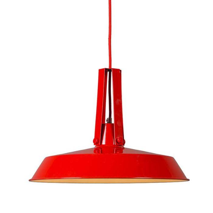 Hanglamp-Living-40cm-rood