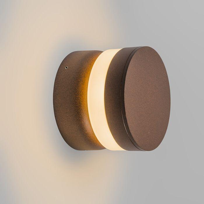 Wandlamp-Tempest-LED-roestkleur