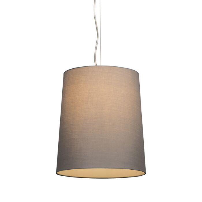 Hanglamp-Cappo-1-met-kap-grijs