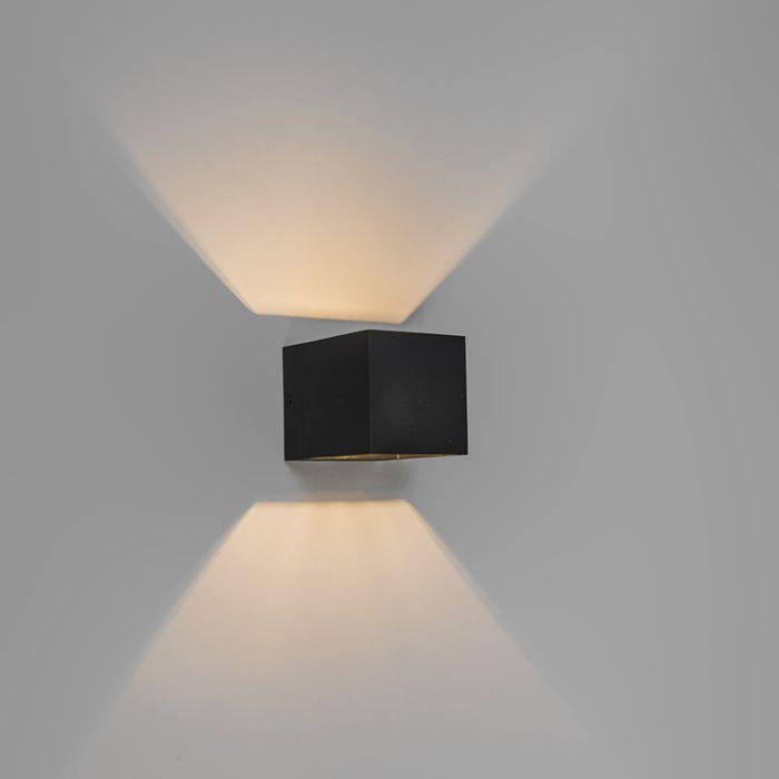 Moderne-wandlamp-zwart---Transfer