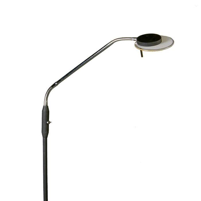 Vloer--leeslamp-Jazz-flex-zwart