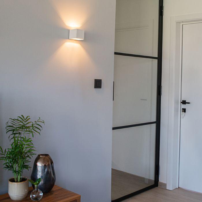 Moderne-wandlamp-wit---Transfer
