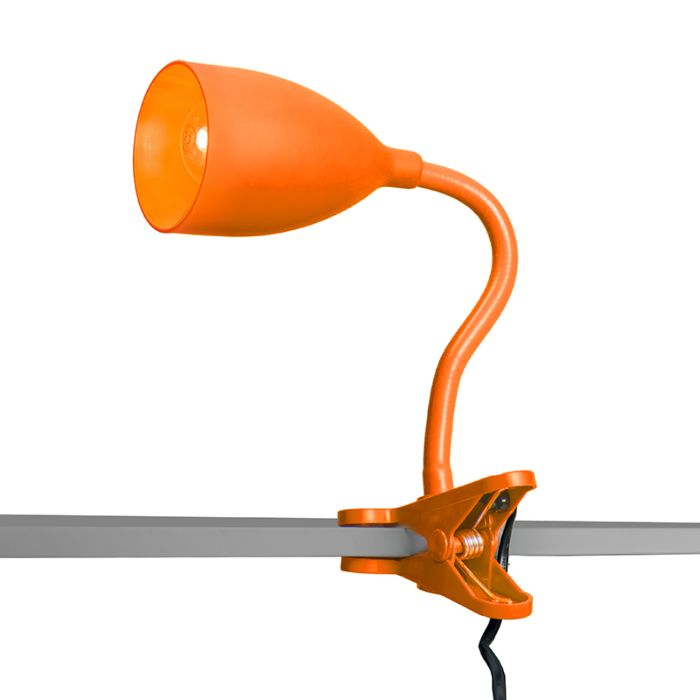 Klemlamp-Young-flex-oranje