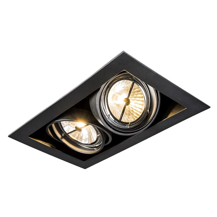 Inbouwspot-zwart-verstelbaar-2-lichts---Oneon-111-2