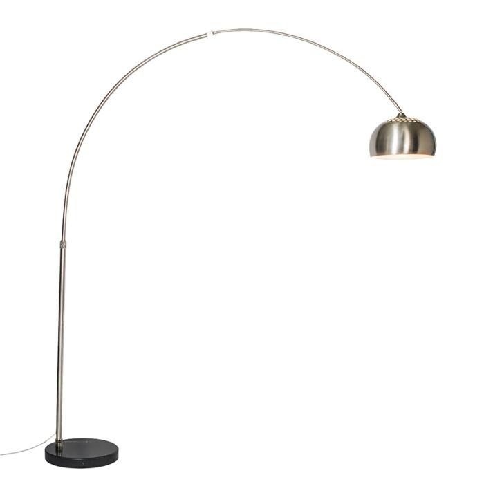 Booglamp-staal-metalen-kap-33-cm---XXL