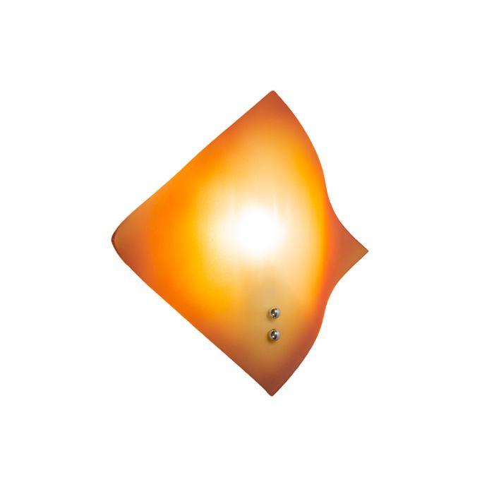 Wandlamp-Wave-oranje