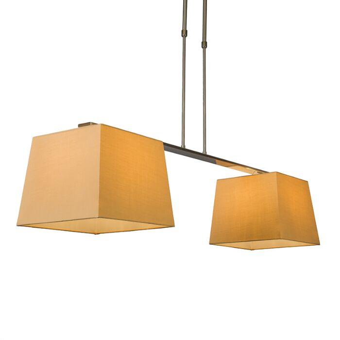 Hanglamp-Combi-Delux-2-kap-vierkant-30cm-beige