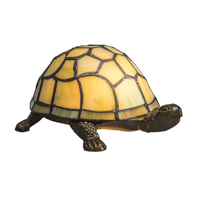 Tafellamp-Tiffany-Turtle-geel