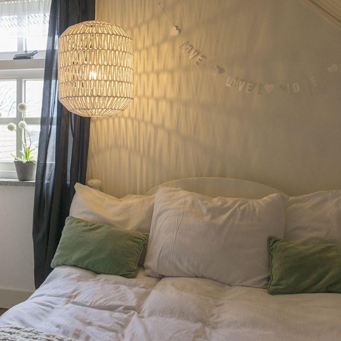 Retro-hanglamp-wit-40-cm---Lina-Hive-40