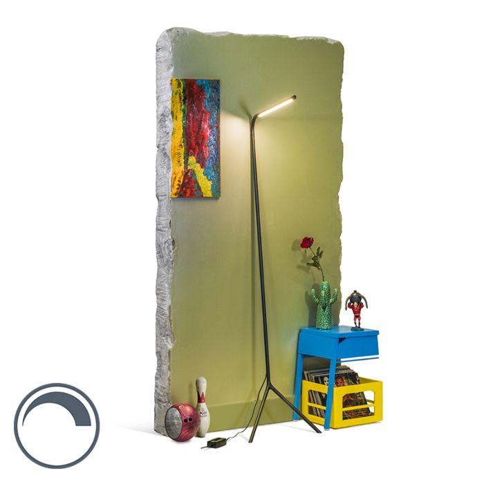 Vloerlamp-Lazy-Lamp-zwart
