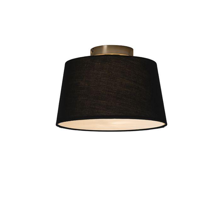 Plafonnière-Combi-30cm-zwart-met-blender