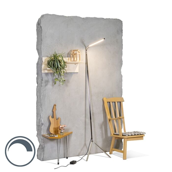 Vloerlamp-Lazy-Lamp-chroom