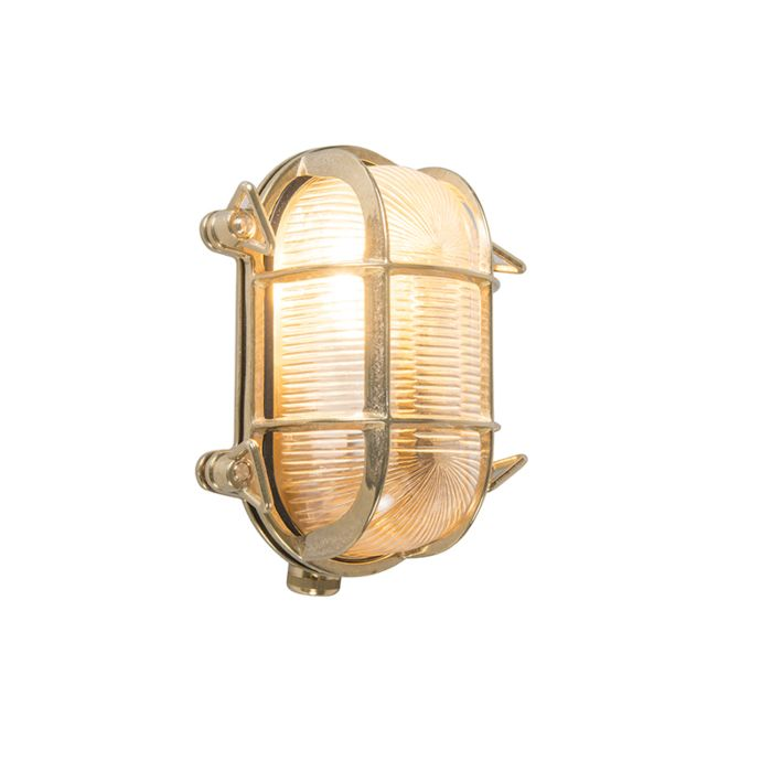 Wand--en-plafondlamp-goud-18/14-cm-IP44---Nautica-2-ovaal