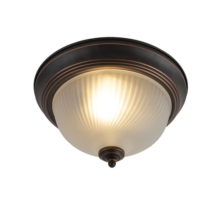 Klassieke-plafondlamp-opaal-bruin---Classico