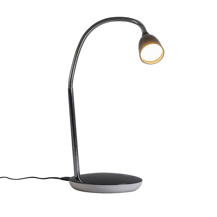 Tafellamp-Flex-zwart-LED