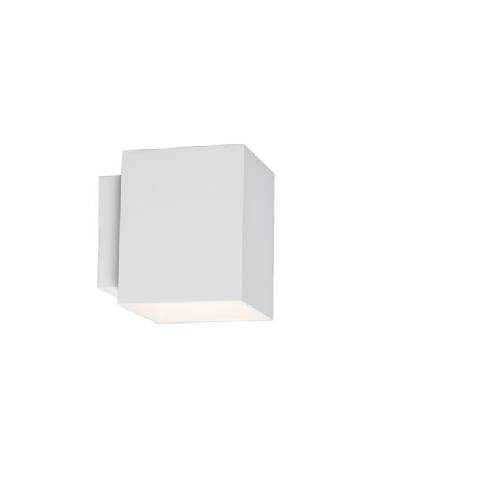 Moderne-wandlamp-vierkant-wit---Sola