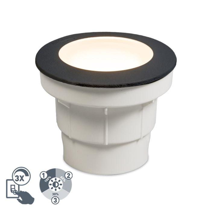 Moderne-buiten-grondspot-zwart-incl.-LED-IP67---Ceci