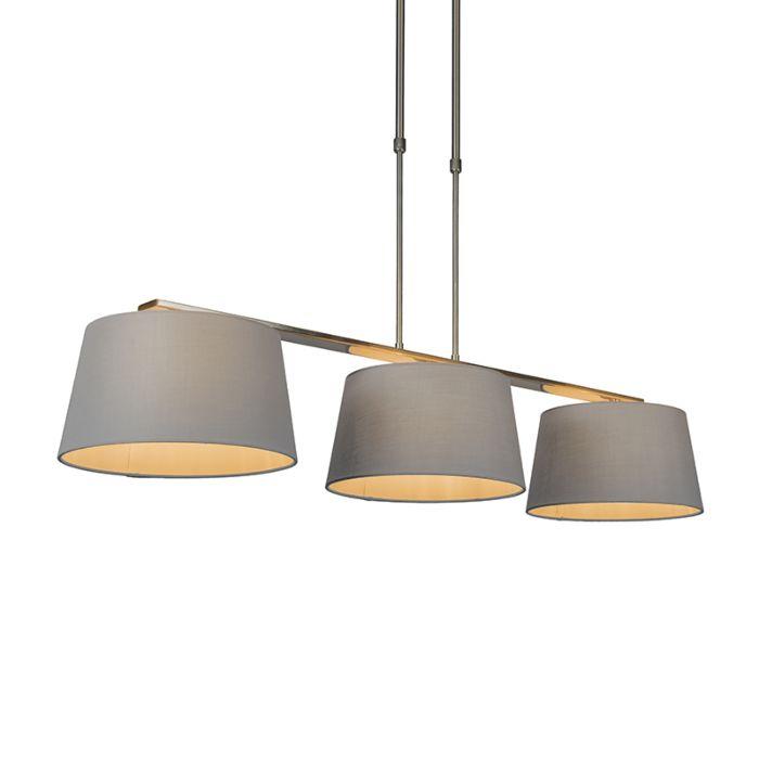 Hanglamp-Combi-Delux-3-kap-rond-30cm-grijs