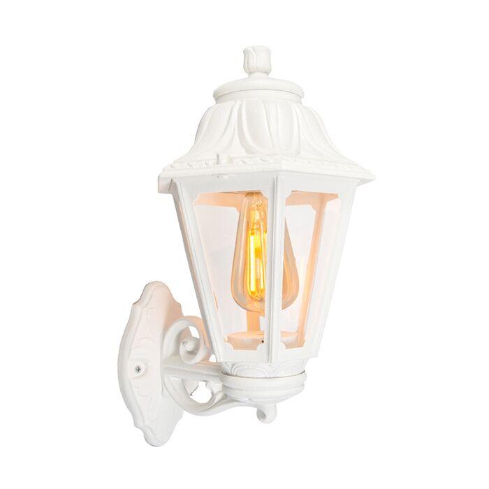 Landelijke-buitenwandlamp-wit-IP44---Anna