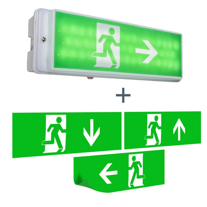 Moderne-rechthoekige-wandlamp-nooduitgang---Emergency