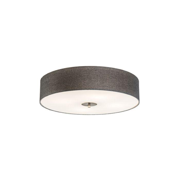 Landelijke-plafondlamp-grijs-50-cm---Drum-Jute
