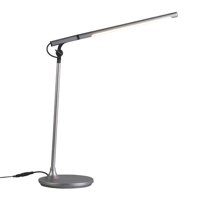 Tafellamp-Stilo-zilver-LED