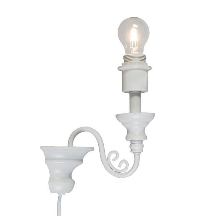 Wandlamp-Marilla-E27-wit